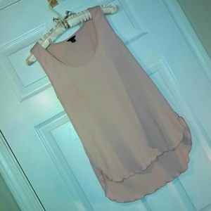 🌷 Pale Pink almost Nude Sleeveless Shell Tank Top